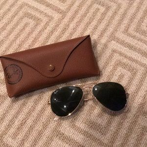 Small Ray Ban Classic Aviator Style Glasses